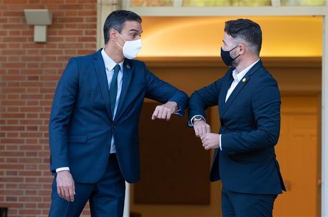 Pedro Sánchez y ERC acordaron avanzar en la armonización fiscal / Foto: Moncloa