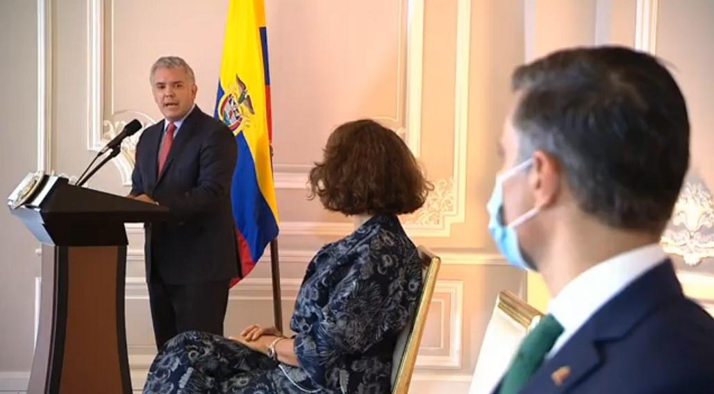 Iván Duque sorprendió asegurando que en su país la prioridad son los nacionales / Foto: CCN