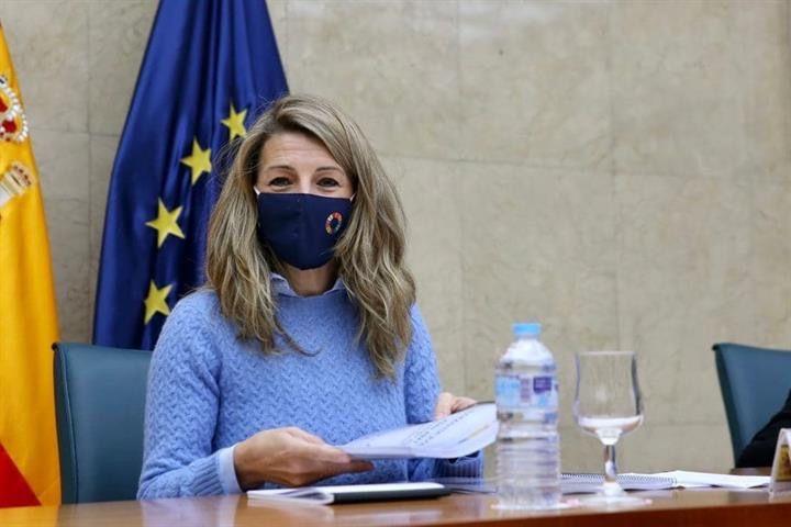 Yolanda Díaz es la única representante de Unidas Podemos invitada al viaje / Foto: Moncloa