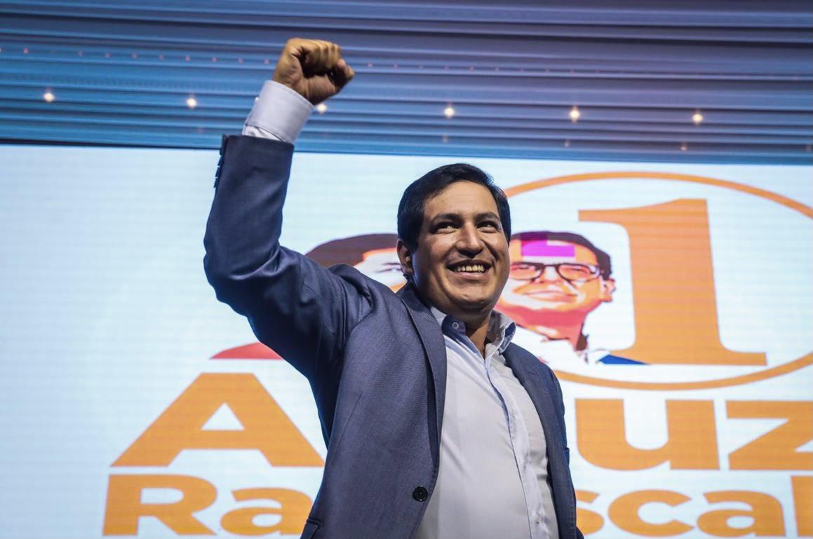Sin carisma pero con el apoyo de Correa, Arauz ganó la primera vuelta / Twitter: @ecuarauz