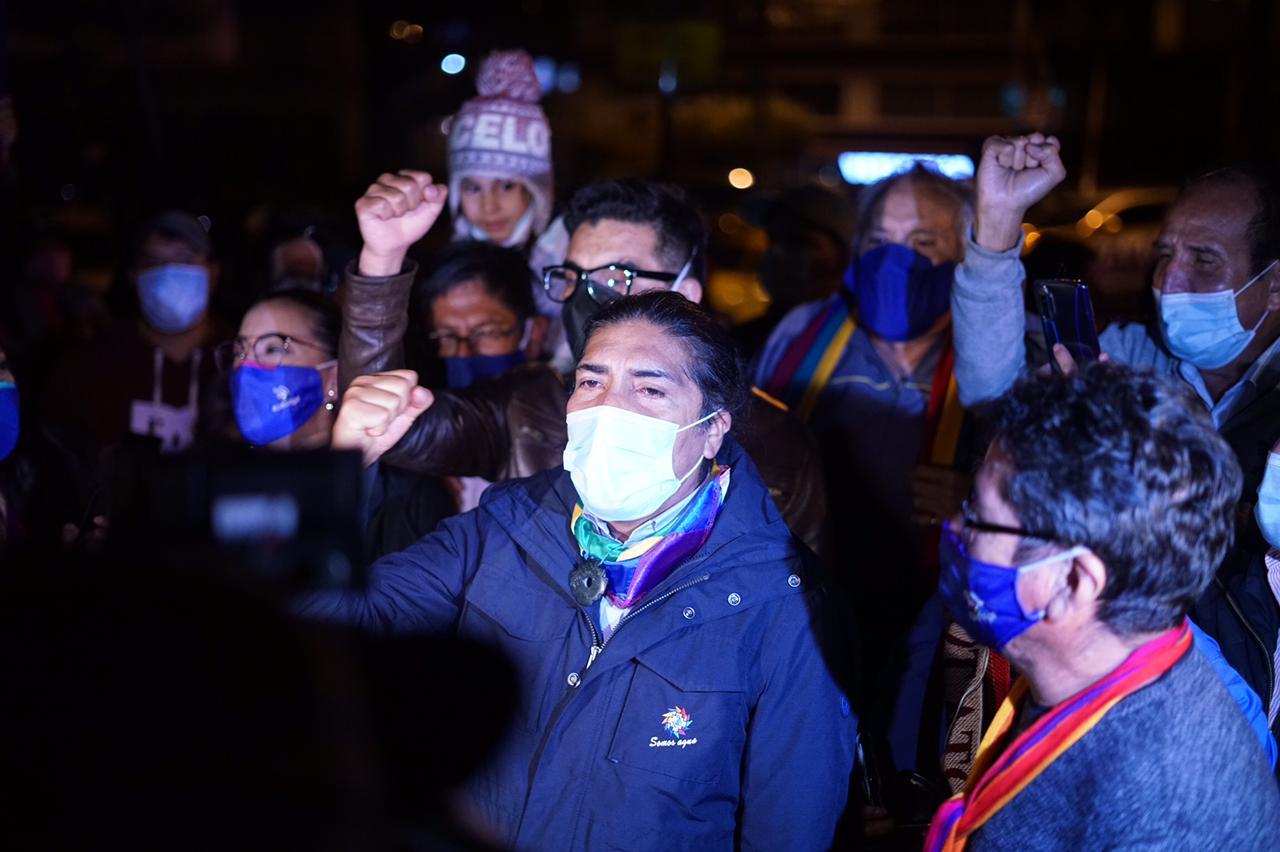 Yaku Pérez es la gran sorpresa de las elecciones presidenciales en Ecuador / Foto: @yakuperezg