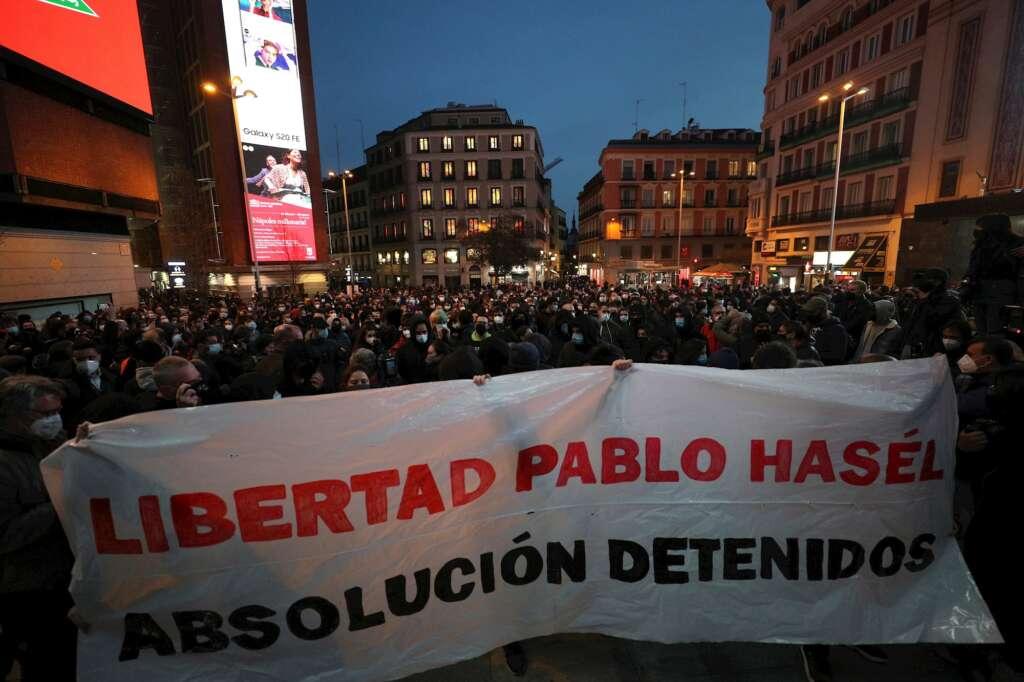 La detención de Hasél ha generado fuertes manifestaciones / Foto: Captura Twitter