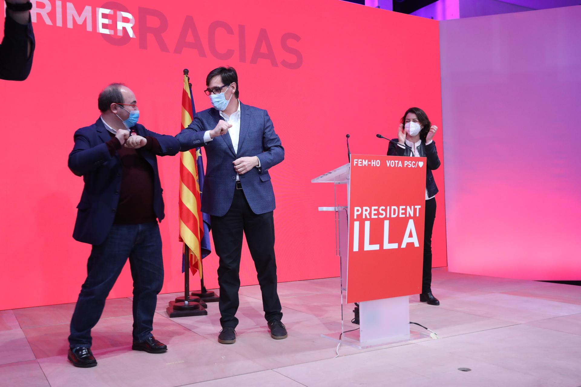 El PSC, liderado por Salvador Illa, fue la fuerza política más votada / Foto: PSC