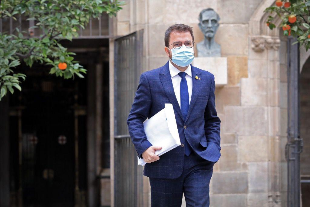 Pere Aragonés, presidente del gobierno catalán, es cabeza de lista por ERC / Foto: Govern