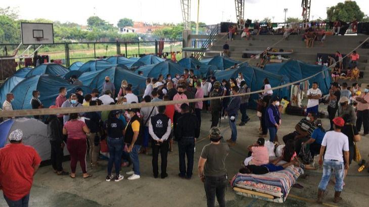 Las ONGs del lugar piden camas, sábanas y toldos para dar cobijo a los desplazados venezolanos / Foto: WC