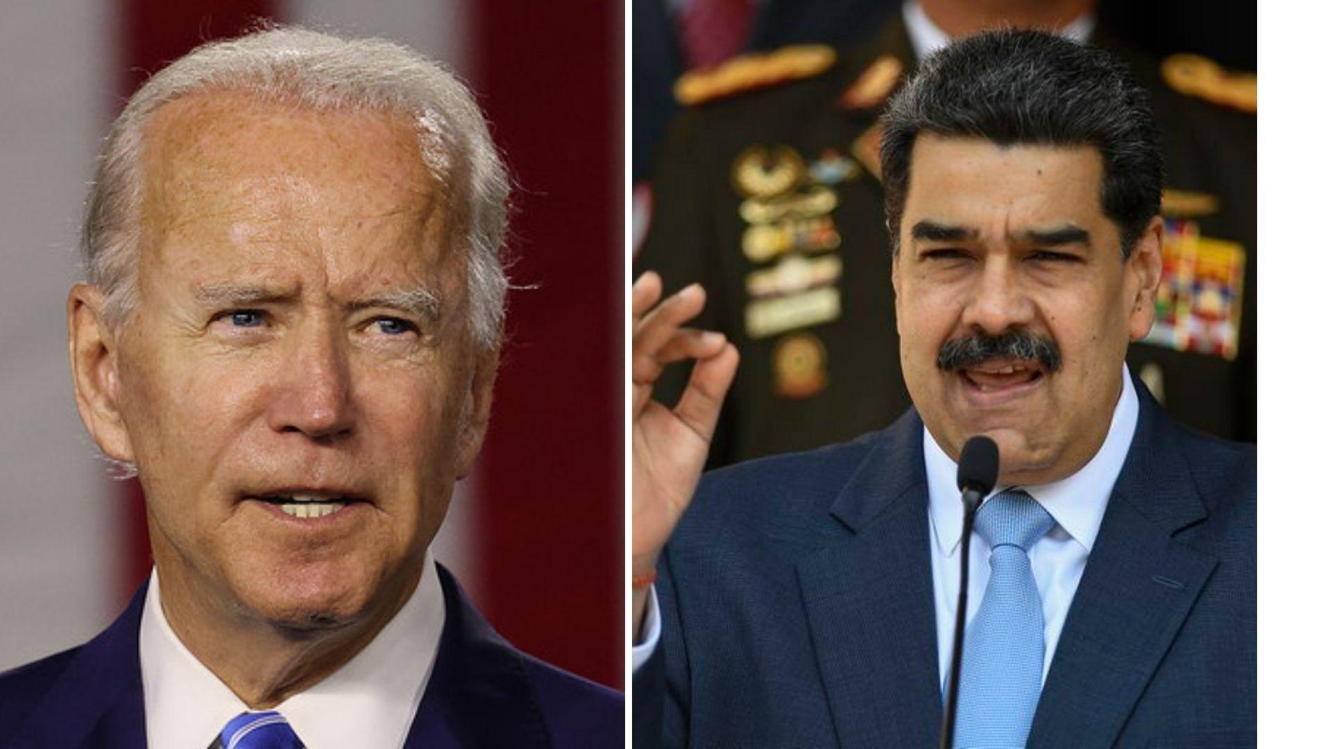 Biden quiere que Maduro negocie