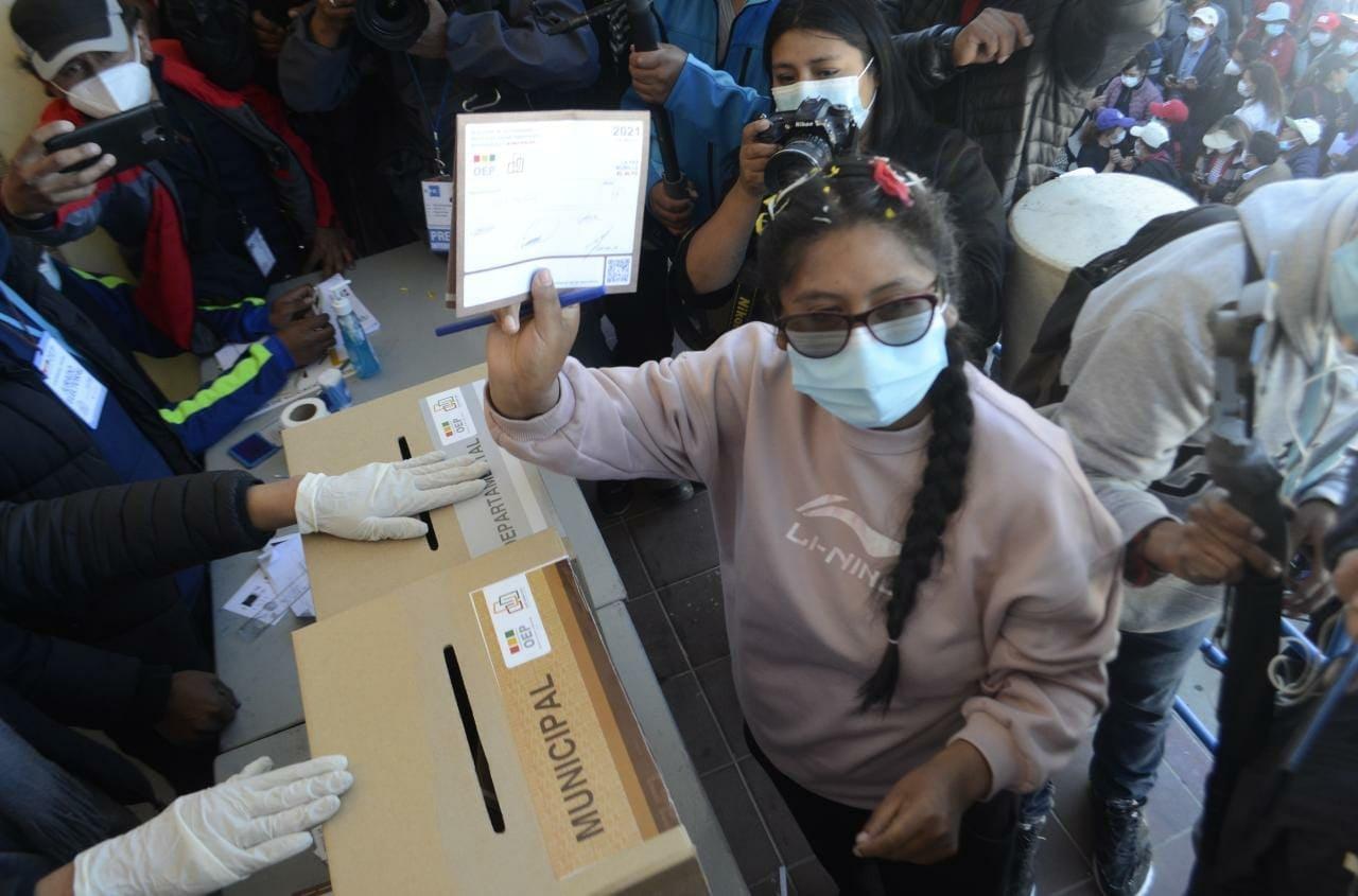 Eva Copa, disidente del MAS, será la nueva alcaldesa de El Alto / Foto: @EvaCopa_Bol