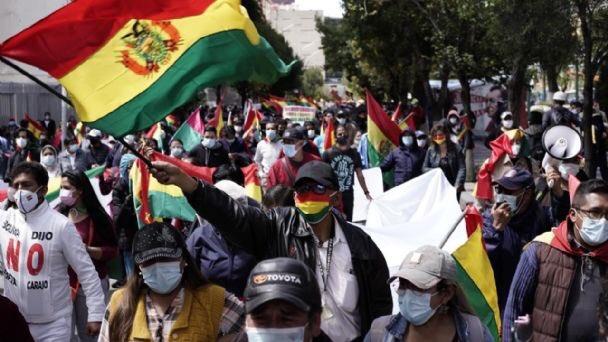 Las protestas recorren La Paz, Cochabamba, Sucre y Santa Cruz / Foto: Captura Twitter