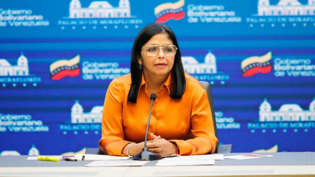 Delcy Rodríguez confirmó este sábado el pago a Covax / Foto: Vicepresidencia