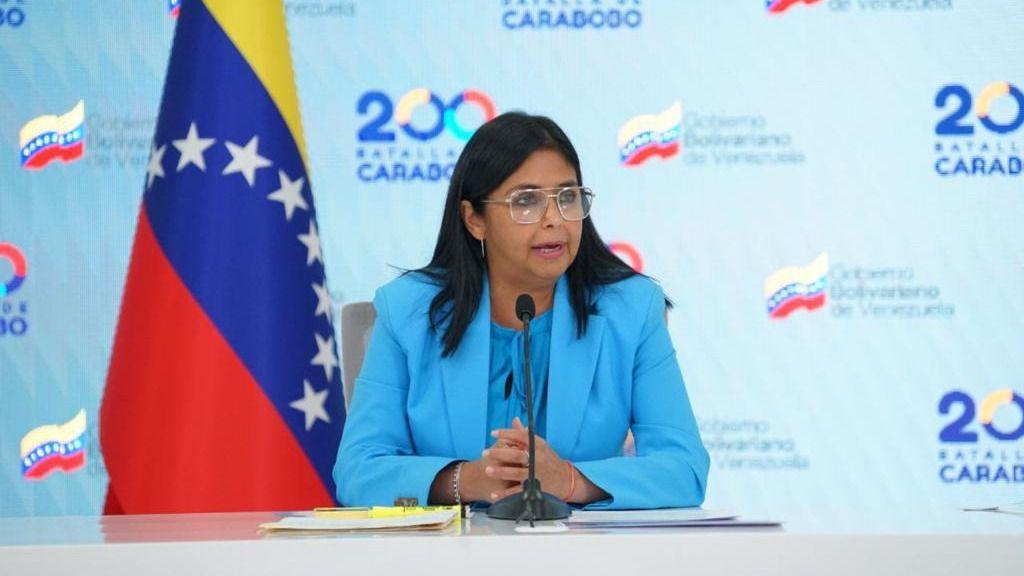 Delcy Rodríguez pidió un diálogo iberoamericano en la Cumbre / Foto: PrensaVE