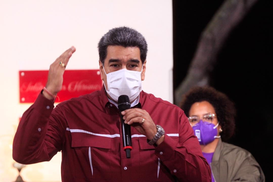 """Este fin de semana Maduro volvió a recordar que él """"ya se vacunó"""" / Foto: PrensaVE"""