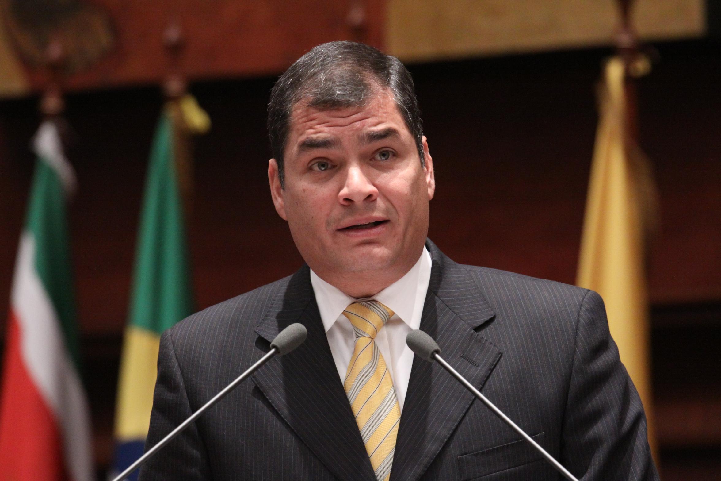 Rafael Correa sigue siendo una temible fuerza política en Ecuador / Foto: ANE