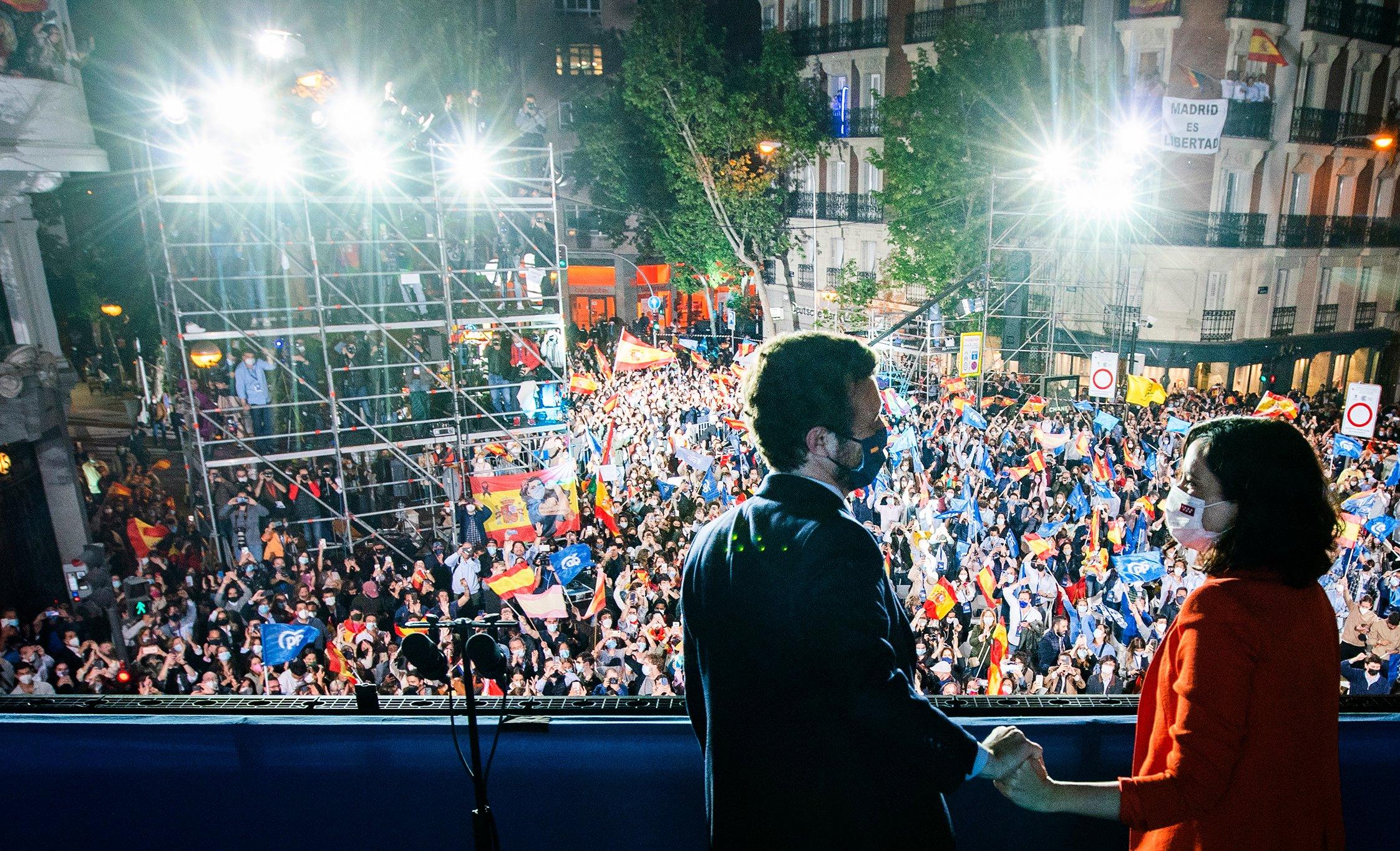 Isabel Díaz Ayuso logró una contundente victoria liderando al Partido Popular / Foto: PP