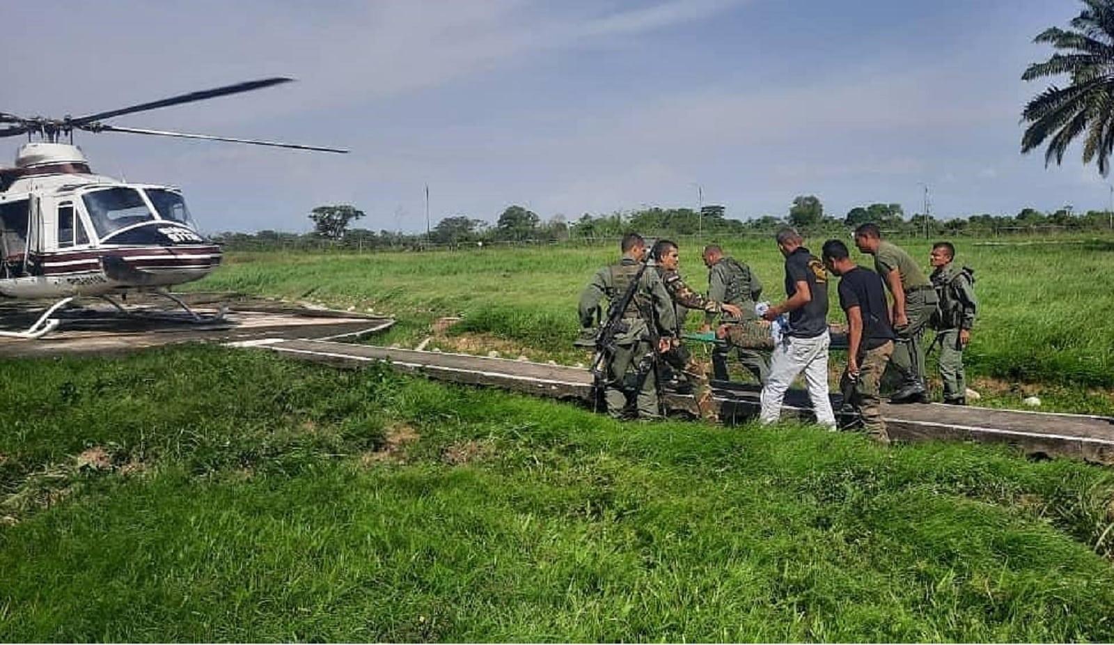 Una instantánea del pasado 9 de mayo de la operación que conduce Venezuela en el occidental estado de Apure, que colinda con Colombia.