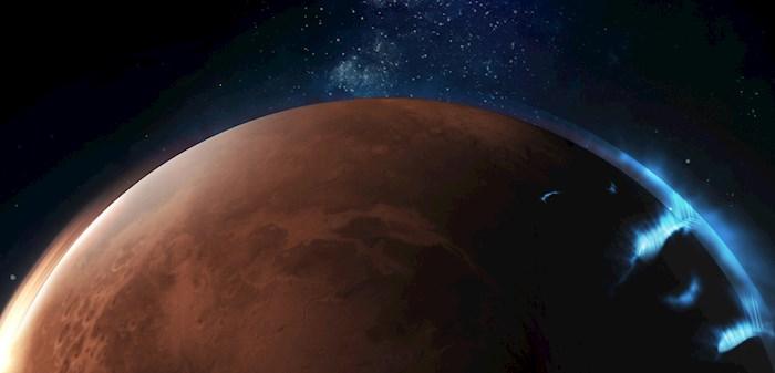 La misión espacial de Emiratos Árabes Unidos publica las primeras fotografías de una aurora discreta en la atmósfera del lado nocturno de Marte