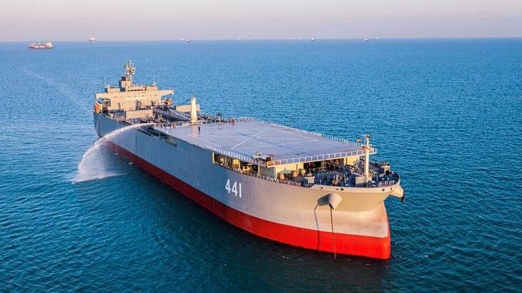 El barco iraní Makran. Foto: EFE