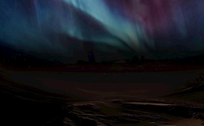 La misión espacial de Emiratos Árabes Unidos publica las primeras fotografías de una aurora discreta en la atmósfera del lado nocturno de Marte. EFE/Misión Espacial EAU/Foto cedida