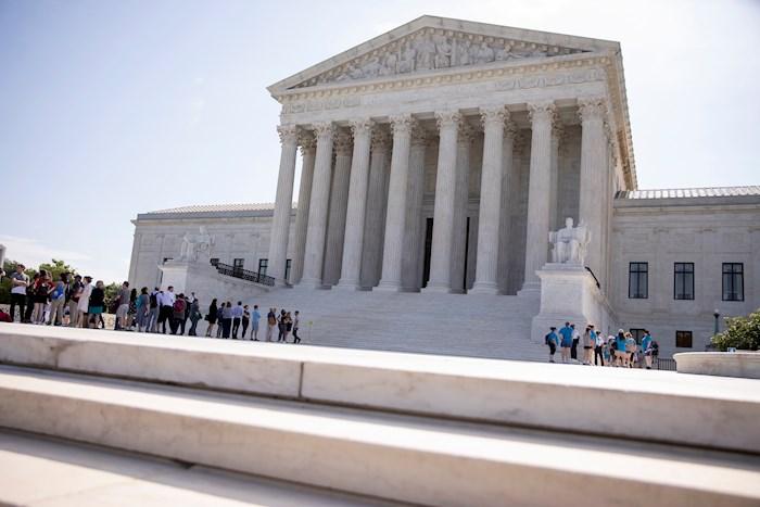 En la imagen un registro general de la sede del Tribunal Supremo estadounidense, en Washington DC (EE.UU.).