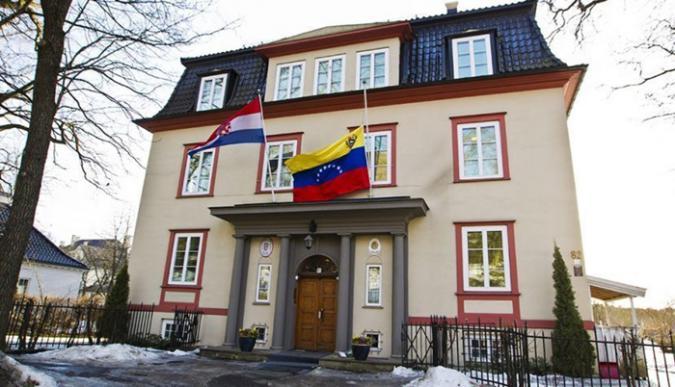 Imagen de la embajada de Venezuela en Oslo, Noruega (Foto: EFE)