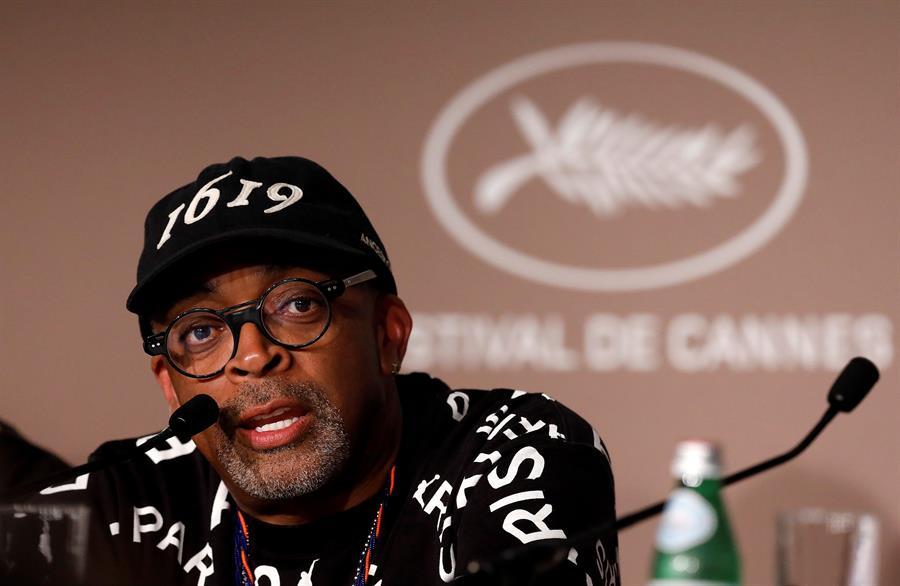 El presidente del jurado del Festival de Cannes, Spike Lee, durante la conferencia de prensa ofrecida hoy.