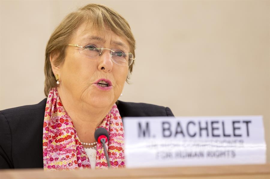La alta comisionada de las Naciones Unidas para los Derechos Humanos, Michelle Bachelet.