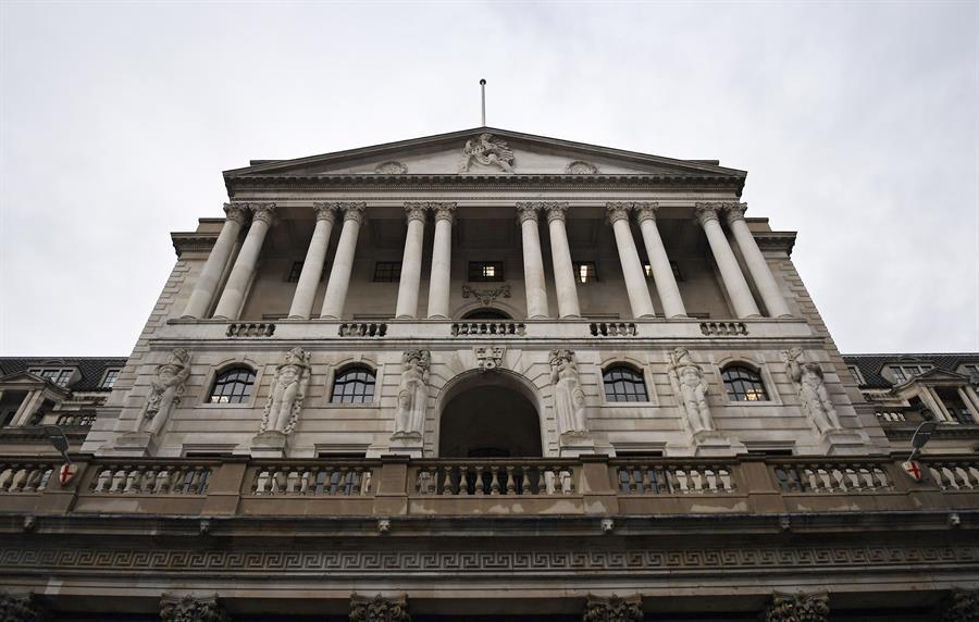 Fachada del Banco de Inglaterra en Londres (Reino Unido).