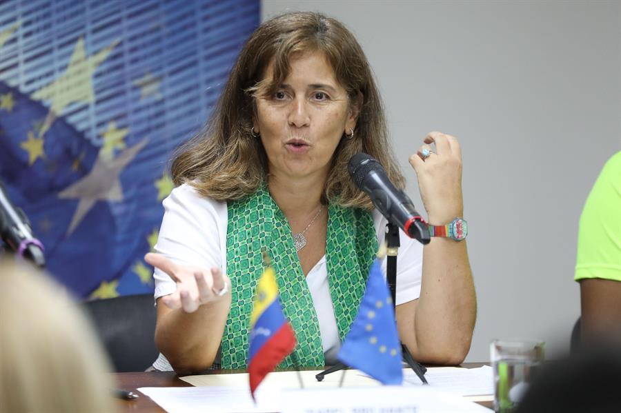 La exjefa de la delegación de la Unión Europea en Venezuela, Isabel Brilhante.