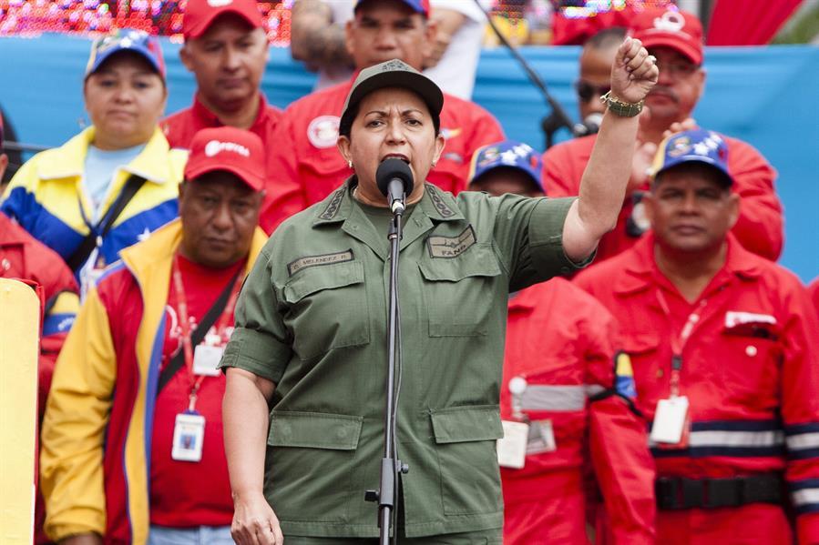 Fotografía de archivo del 18 de febrero de 2014 de la ministra de Interior y Justicia de Venezuela, Carmen Meléndez.