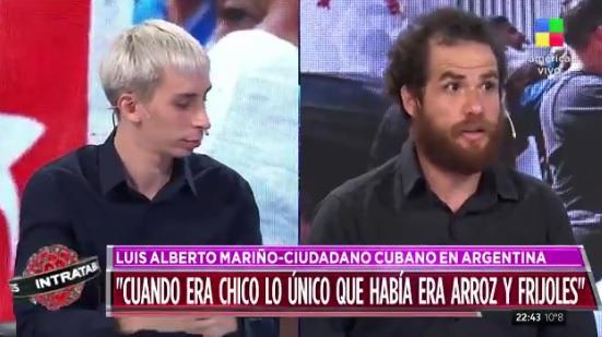 Del Pópolo (i) y Mariño (d) durante su debate.