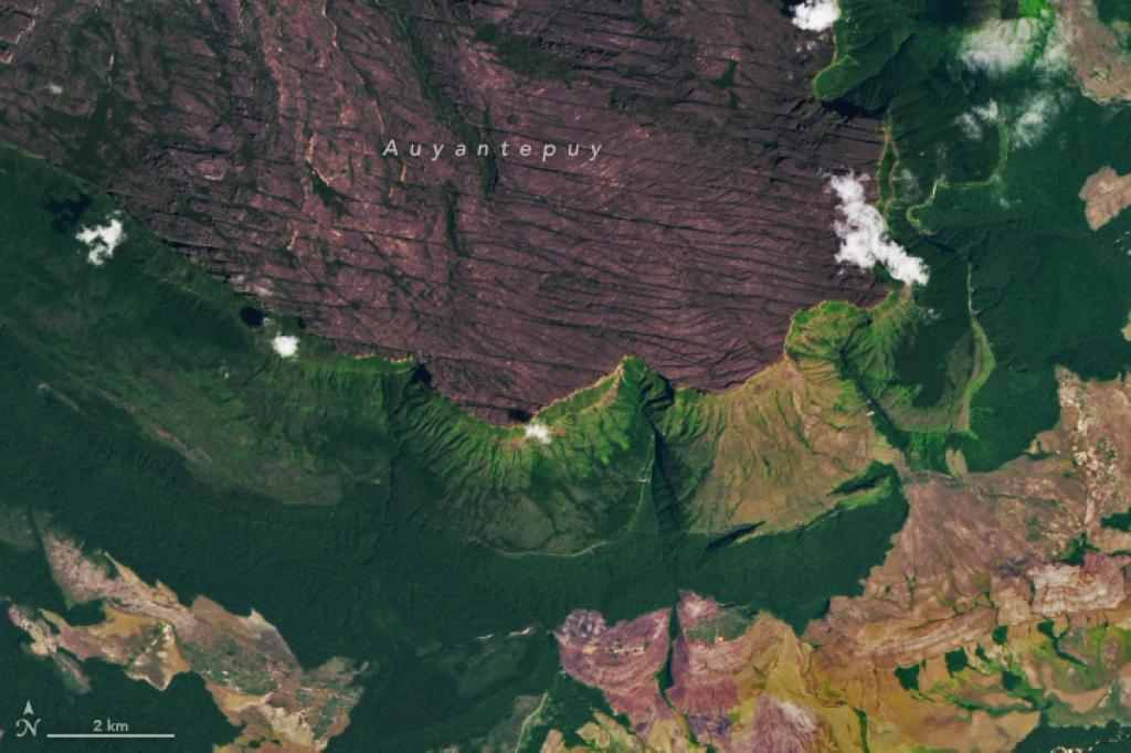 El Generador operacional de imágenes de tierra (OLI, por sus siglas en inglés) en Landsat 8 capturó vistas más cercanas del parque el 5 de febrero de 2018.